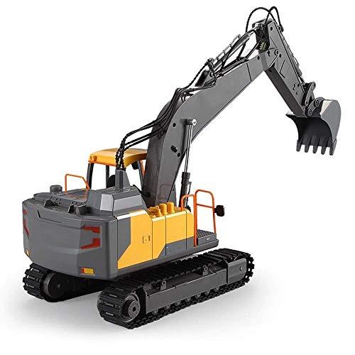 GRTVF Control Remoto camión grúa Excavadora Juguete RC Tractor Cargador Remoto eléctrico...