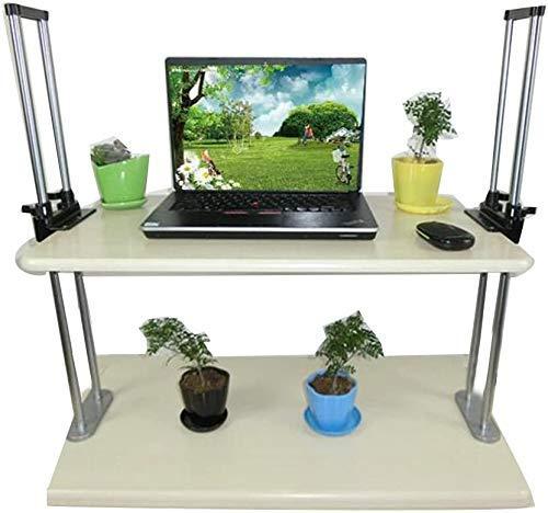 Cxcdxd Nest of Tables Tavolino da caffè Bianco Tavolini da appoggio Tavolo per Laptop Scrivania in Piedi | Altezza elettrica Regolabile in Piedi Scrivania Sollevamento Mobile (Dimensioni, Altezza 6