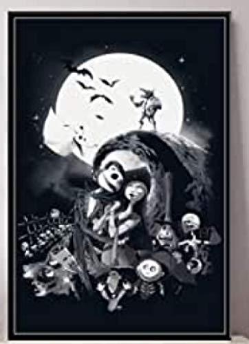 JCYMC Rompecabezas 1000 Piezas Imagen De Montaje Pesadilla Antes De Navidad Jack Skellington Película Arte Seda para Adultos Juegos para Niños Juguetes Educativos Wq65Xz
