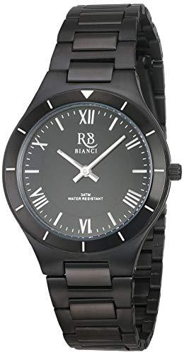 Roberto Bianci Watches Eterno Damen-Armbanduhr, Quarz, Edelstahl, Schwarz, 15 Stück (Modell: RB0410)