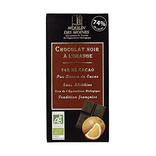 Moulin Des Moines - Chocolat noir à l'orange 74% 3x100G Bio - Tarif Dégressif - Option Cadeau