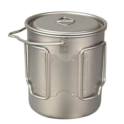 DQM 750ml Titanium Pot Water Cup, con Tapa y asa Plegable Ca