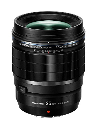 Olympus M.Zuiko Digital ED 25mm F1.2 PRO Lens, for Micro Four Thirds Cameras