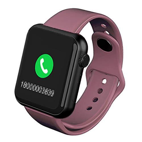 Wsaman Outdoor Wasserdicht Fitness Tracker Touchscreen Fitnessuhr, Aktivitätsmonitore Pedometer Digital Sportuhr Uhren mit Call Erinnerung für Damen Herren,Rosa