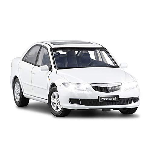 HCEB Coche de Juguete 1/32 para Mazda-6 simulación de dirección Amortiguador Modelo Coche de Juguete Seis Puertas luz Abierta colección salón Juguetes vehículo (Color : 3)