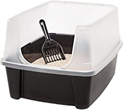 Litter Box with Shield and Scoop-Black