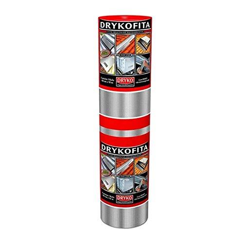 Manta Asfáltica Autoadesiva Drykofita Alumínio 60 Cm X 10 Mt