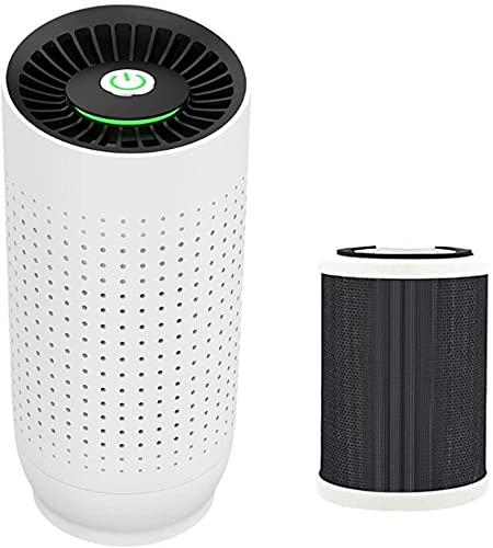 XINGDONG Deodorante per purificatore Aria Auto Portatile USB Generatore Negativo a pagamento Durevole (Color : White)