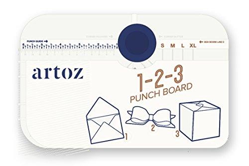 Artoz smart tool I 3-in-1- Stanzbrett I Stanzbrett zum herstellen von eigenen Briefumschlägen, Maschen und Boxen