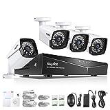 SANNCE Kit de 4 Cámaras de Vigilancia Seguridad 1080P 4CH NVR y 4 IP...