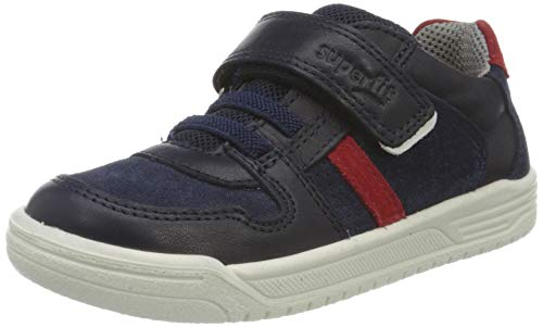 Superfit Jungen Earth Sneaker, (Blau/Rot 81), 36 EU
