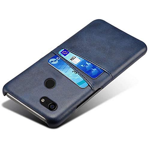 HualuBro Handyhülle für Google Pixel 3XL Hülle, Premium PU Leder Hardcase [Ultra Dünn] Lederhülle Tasche Schutzhülle Hülle Cover für Google Pixel 3 XL 2018 (Blau)