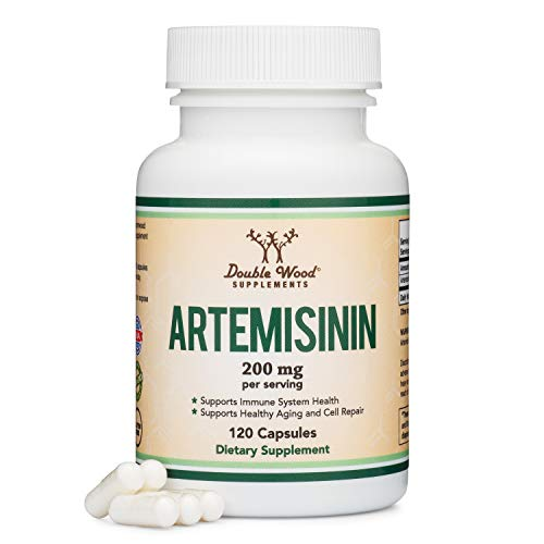 Artemisinin (Sweet Wormwood)(Artemisia Annua) 200mg Per Serving, 120 Capsules (Two Month Supply) Vegan Safe, Non-GMO, Gluten Free, Made in The USA by Double Wood Supplements