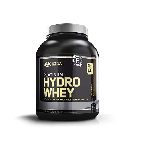 Optimum Nutrition Hydro Whey Hydrolised Whey Protein Isolate with Essential Amino Acids, Glutamine and BCAA, Milk Chocolate, 40 Servings, 1.6 kg
