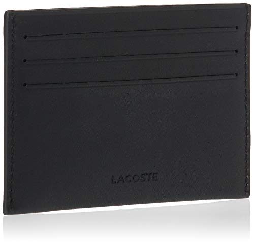 Lacoste Men's NH1346 Credit Card Holder, Black, One Size