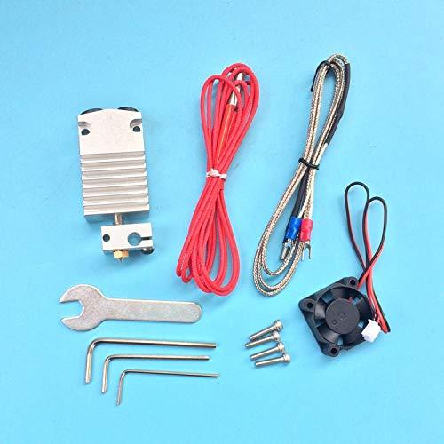 XACQuanyao LMY-Pulley, Partes de la Impresora 1 Juego en 3D 2 en 1 hacia Fuera Hotend Sola Cabeza de impresión en Color de Doble Cabezal de extrusión con los Cables Completo Kit