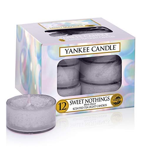 Yankee Candle velas Tea Light de cera, Notas dulces, lila, 8,4 x 8,4 x 6,1 cm