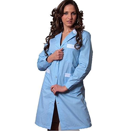 Bluzka bawełniana dla kelnerów lub pań, błękitna, 50