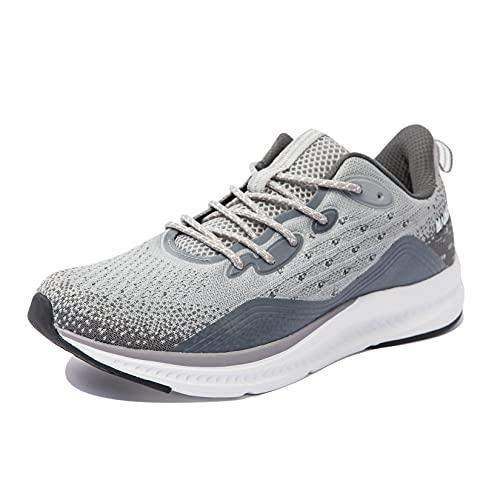 Anbenser Scarpe da Ginnastica Uomo Scarpe da Corsa Sportive Respirabile Mesh Scarpe Running Antiscivolo Traspirante Fitness Sneakers, Grigio, 42