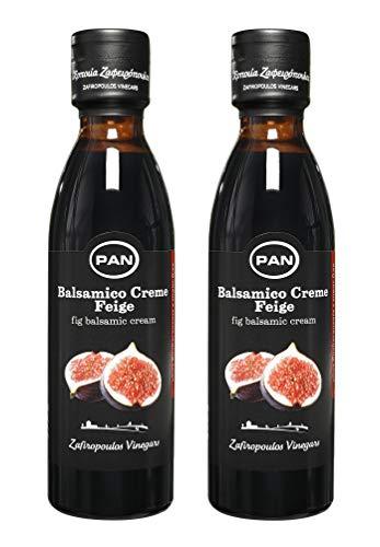 Premium Balsamico Creme Feige   mit natürlichem Zucker   griechischer fruchtiger Feigen Balsamico   2x 250 ml Flasche