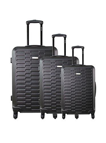 zifel Set de 3 trolleys rígidos TD402 Negro 0.0 cm