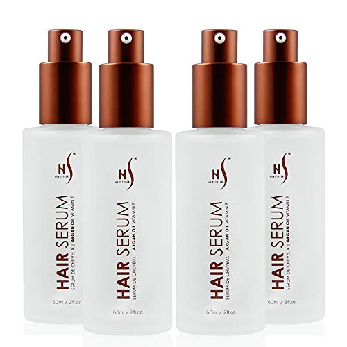 Herstyler Dry Hair Serum for Natural Shine - Argan Oil Hair Serum for Damaged Hair - Hair Serum for Frizz - Hair Serum for Straightening - Hair Shine Serum for Trendy Tresses (Pack of 4)