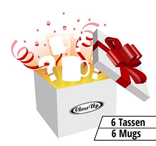 Close Up Mystery Box/Überraschungsbox mit 6 zufälligen Tassen (auch Lizenz Produkte) - Restposten, Sonderposten Tombola - NEU & OVP