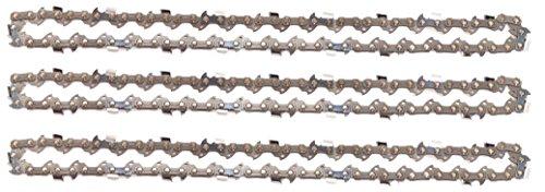 3 tallox cadenas de sierra 3/8' 1,3 mm 39 eslabones 25 cm compatible con Black & Decker