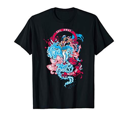 Sail Away Rockabella Rockabilly PIN-UP Girl PinUp Anker T-Shirt