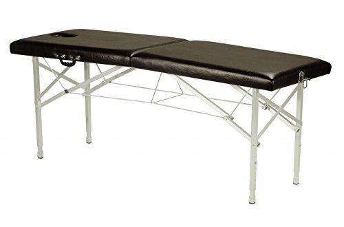 Tumbona terapia, Camilla de masaje, Tumbona plegable, mobil con Asa de transporte, ajustable en altura - nr. 60. negro ✅