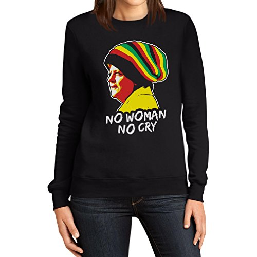 Coole Jamaika Merkel in Reggae muts - No Woman No Cry Pulli vrouwen sweatshirt
