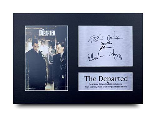 HWC Trading The Departed A4 Ungerahmt Signiert Gedruckt Autogramme Bild Druck-Fotoanzeige Geschenk Für Leonardo Dicaprio Matt Damon Jack Nicholson Mark Wahlberg Martin Sheen Filmfans