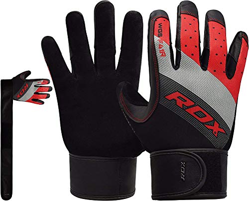 RDX Fitness Handschuhe Wettbewerb Trainingshandschuhe Handgelenkschutz Gewichtheben krafttraining Sporthandschuhe Bodybuilding Workout Gym Gloves (MEHRWEG)