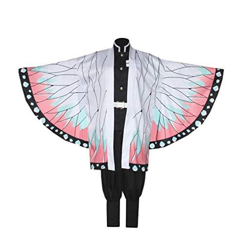 Disfraz de cosplay de mariposa Ninja / Disfraz de traje de anime unisex Incluye Kimono de mariposa + Top + Pantalones + Cinturn + 2 piezas de cubierta de pierna + Sombreros Favores de fiesta Ropa