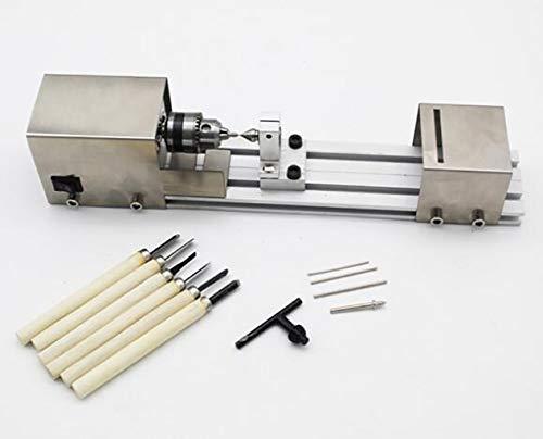 Find Bargain GHGJU Mini Lathe Beads Polisher Machine,Baugger-Polisher Machine Woodworking Craft Rota...