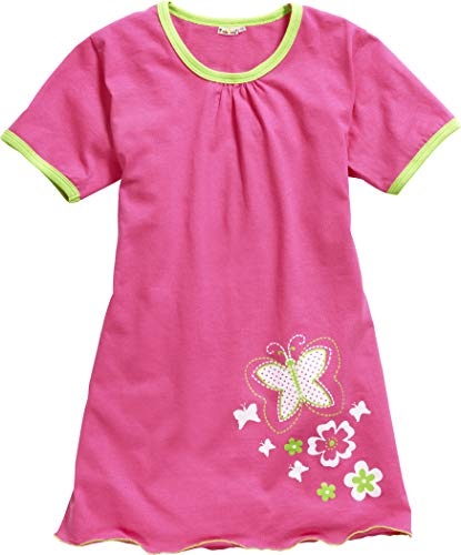 Playshoes Mädchen Single-Jersey Schmetterling Nachthemd, Rosa (Pink 18), (Herstellergröße: 140)