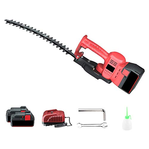 ZXMDP 21-Volt Hedge Trimmer Cordless Grass Shear, 1600-RPM Shrubber Handheld Trimmer, Rechargeable on-Board Lithium, Ion Battery and Charger Included