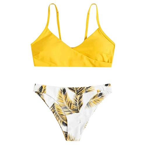 Conjuntos de Bikinis para Mujer Push Up Bikini Traje de baño de Tanga de Cintura Baja Trajes de baño Adecuado Viajes Playa La Natacion