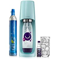 SodaStream Sparkling Water Maker Limited Edition Bundle (Icy Blue) Fizzi Kit With bubly Drops, 1 Liter