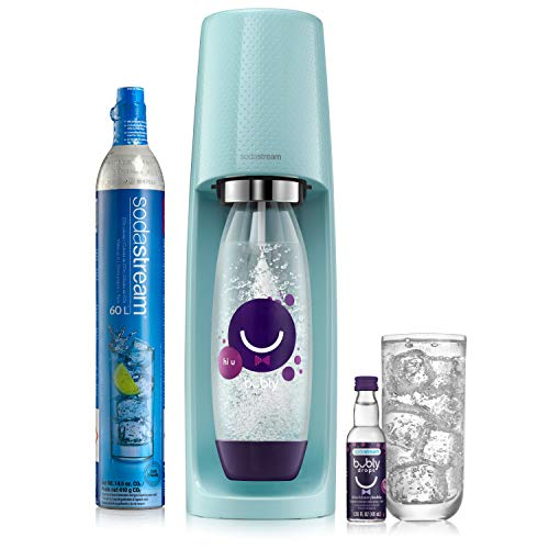 SodaStream Sparkling Water Maker Limited Edition Bundle (Icy Blue) Fizzi