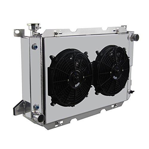 OzCoolingParts 3 Row All Aluminum Radiator + 2 x 12' Fan w/Shroud Kit for...