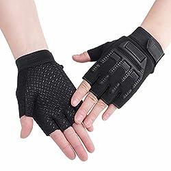 Kinder Halbfinger Handschuhe Fahrradhandschuhe Sporthandschuhe Radhandschuhe Fingerlos Gloves Outdoor rutschfest Fäustlinge Handschuhe für Radfahren Fitness, Training für Junge Mädchen