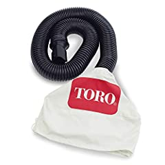 Assembles in minutes - simply attach the hose to your electric blower vac and tighten the drawstring around your receptacle Heavy-duty 8 ft. hose Make your yard clean-up easier and more efficient Toro spring bucket available separately Compatible wit...