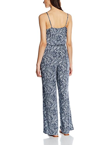 Q/S designed by – s.Oliver Damen Jumpsuit, mehrfarbig (Night Blue) - 2