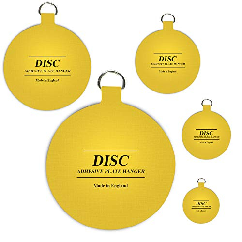 Winsome Disc Plate Hangers for Walls - Strong Invisible Plate Holder Self Adhesive Stick On Hooks Picture Hanging Wall Plate Holder - (140mm / 5.5') Plate Hanging Disk