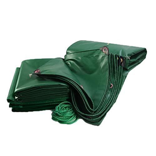 NJ dekzeil, dikker PVC regenzeil, waterdicht, luifel, autozeil, (450 G / M2) groen, 9 maten om uit te kiezen 5x7M