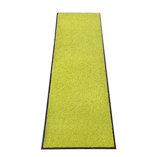 acerto Zanzibar Fußmatte, waschbarer & Rutschfester Türvorleger, ohne PVC für innen und außen (60x180cm - Lemon)