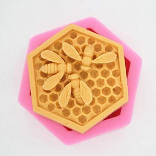 3D Bee Honingraat Siliconen Zeep Mallen Kaars Hars Ambachten Mould Mousse Fondant Cake Bakeware Decoratie Keuken Accessoires