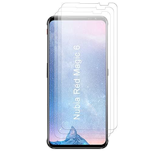 JundD Bildschirmschutz Kompatibel für Nubia Red Magic 6 Schutzfolie, 3 Stücke Antireflektierend Nicht Ganze Deckung Matte Folie Bildschirmschutzfolie für Nubia Red Magic 6