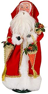 Byers' Choice Father Christmas with Candy Containers Caroler Figurine #3183 from The Santa Collection